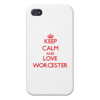 Keep Calm and Love Worcester iPhone 4/4S Case
