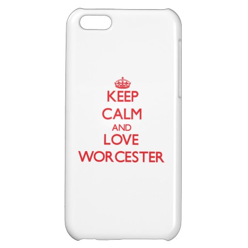 Keep Calm and Love Worcester iPhone 5C Case