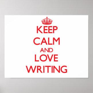 Keep calm and love Writing Print