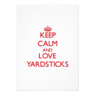 Keep calm and love Yardsticks Custom Invitations