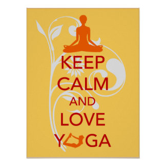 Keep Calm and Love Yoga unique art print poster
