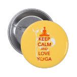 Keep Calm and Love Yoga - unique fun design 6 Cm Round Badge