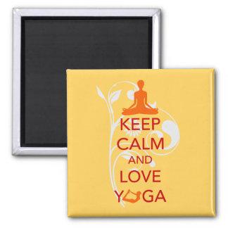 Keep Calm and Love Yoga - unique fun design Square Magnet