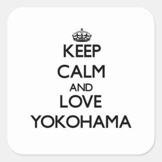 Keep Calm and love Yokohama Square Sticker