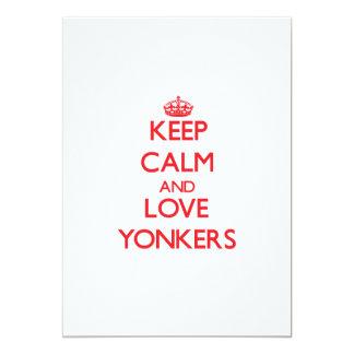 Keep Calm and Love Yonkers 13 Cm X 18 Cm Invitation Card