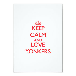 Keep Calm and Love Yonkers 13 Cm X 18 Cm Invitation Card