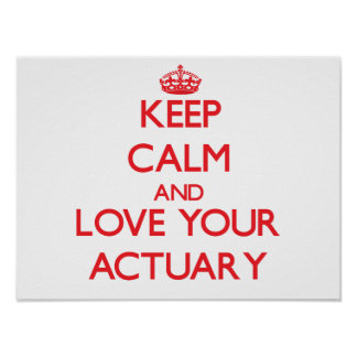 Keep Calm and Love your Actuary Poster