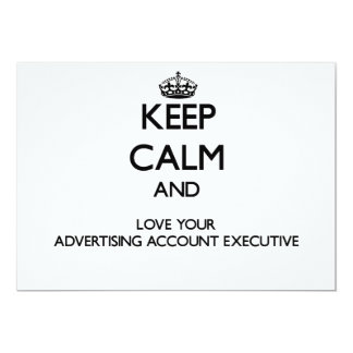 Keep Calm and Love your Advertising Account Execut Custom Announcement