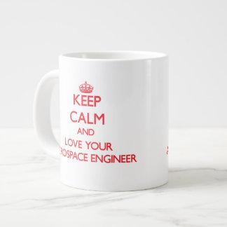 Keep Calm and Love your Aerospace Engineer Jumbo Mugs