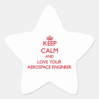 Keep Calm and Love your Aerospace Engineer Sticker