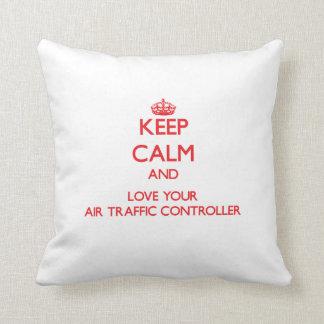 Keep Calm and Love your Air Traffic Controller Cushion