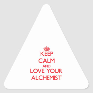 Keep Calm and Love your Alchemist Triangle Sticker