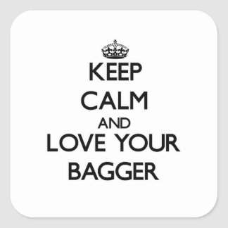 Keep Calm and Love your Bagger Stickers