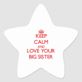 Keep Calm and Love your Big Sister Stickers