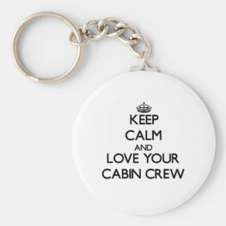 Keep Calm and Love your Cabin Crew Basic Round Button Key Ring