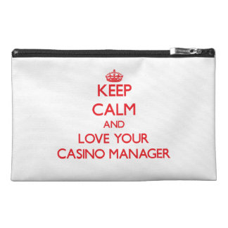Keep Calm and Love your Casino Manager Travel Accessories Bags