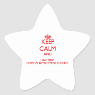 Keep Calm and Love your Chemical Development Engin Star Stickers