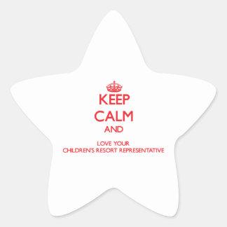 Keep Calm and Love your Children's Resort Represen Stickers