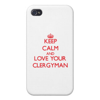 Keep Calm and Love your Clergyman iPhone 4 Cover