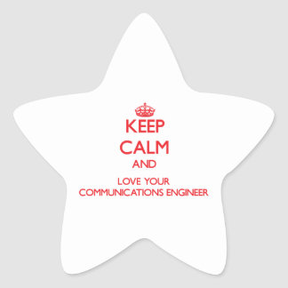 Keep Calm and Love your Communications Engineer Star Stickers