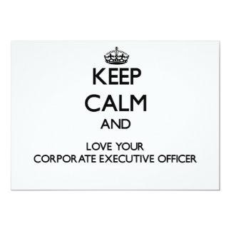 Keep Calm and Love your Corporate Executive Office Custom Invitation