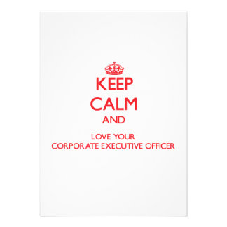 Keep Calm and Love your Corporate Executive Office Personalized Announcement