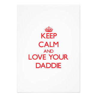 Keep Calm and Love your Daddie Personalized Announcements