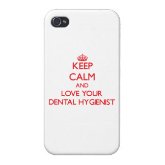 Keep Calm and Love your Dental Hygienist Case For iPhone 4