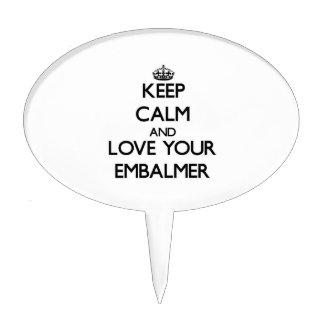Keep Calm and Love your Embalmer Cake Picks