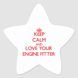 Keep Calm and Love your Engine Fitter Stickers