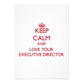 Keep Calm and Love your Executive Director Cards