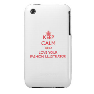 Keep Calm and Love your Fashion Illustrator iPhone 3 Case-Mate Case