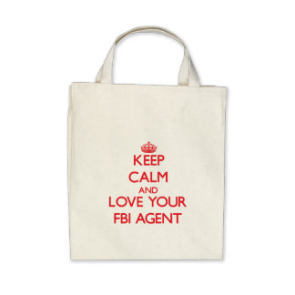 Keep Calm and Love your Fbi Agent Canvas Bags