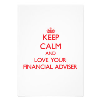 Keep Calm and Love your Financial Adviser Invitation