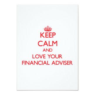 "Keep Calm and Love your Financial Adviser 5"" X 7"" Invitation Card"
