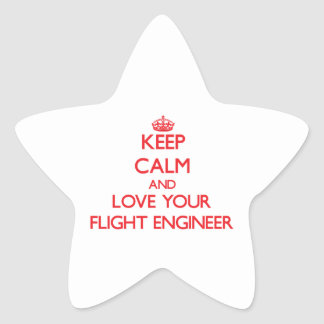 Keep Calm and Love your Flight Engineer Sticker