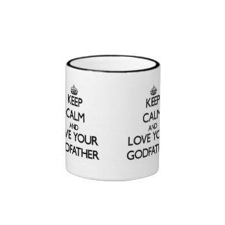 Keep Calm and Love your Godfather Ringer Mug