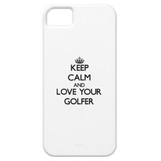 Keep Calm and Love your Golfer iPhone 5 Cover