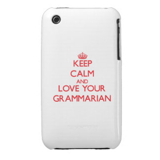 Keep Calm and Love your Grammarian iPhone 3 Case-Mate Cases