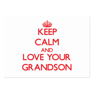 Keep Calm and Love your Grandson Pack Of Chubby Business Cards
