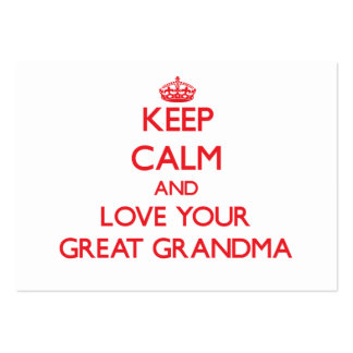 Keep Calm and Love your Great Grandma Pack Of Chubby Business Cards