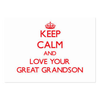 Keep Calm and Love your Great Grandson Pack Of Chubby Business Cards