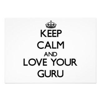 Keep Calm and Love your Guru Announcement