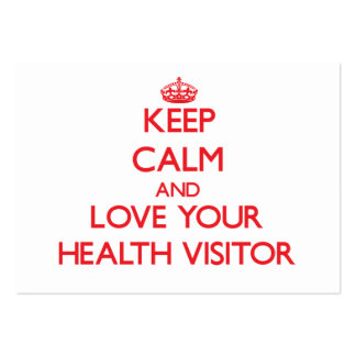 Keep Calm and Love your Health Visitor Business Card Template
