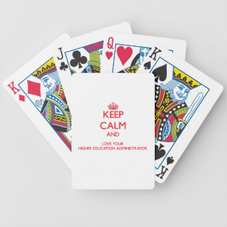Keep Calm and Love your Higher Education Administr Card Deck