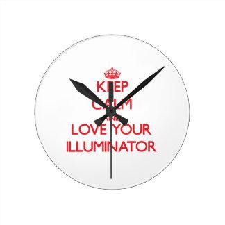 Keep Calm and Love your Illuminator Wall Clock