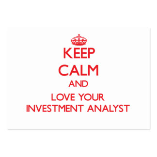Keep Calm and Love your Investment Analyst Business Card