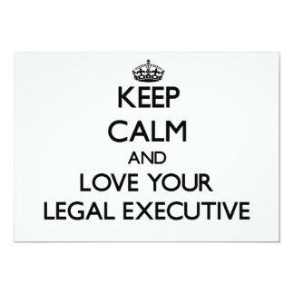 Keep Calm and Love your Legal Executive Custom Invitations