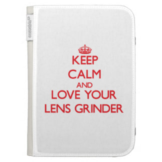 Keep Calm and Love your Lens Grinder Kindle Folio Cases