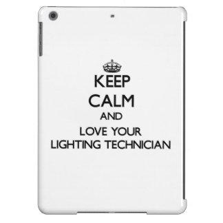 Keep Calm and Love your Lighting Technician iPad Air Case